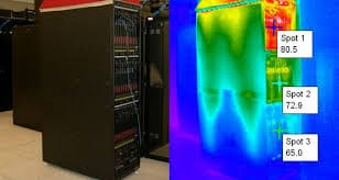 cabinet server roomheat signature