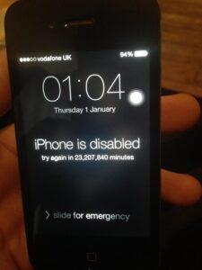 Locked iphone MDM